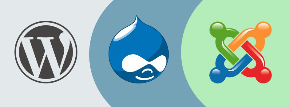WordPress Drupal Joomla